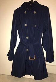 Massimo Dutti Trench Coat S size navy color very good condition