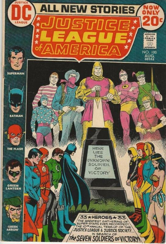 DC Comics Justice League of America Vol One (1960 Series) #100 FN+ 6.5
