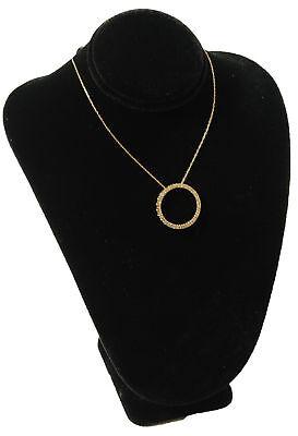 11 Black Velvet Necklace Bust Jewelry Displays