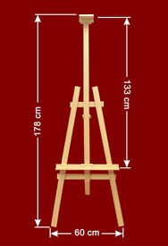 EASEL WOODEN 6ft 180cm ART CRAFT DISPLAY BEECH WOOD SUPER PRICE - BRAND NEW-