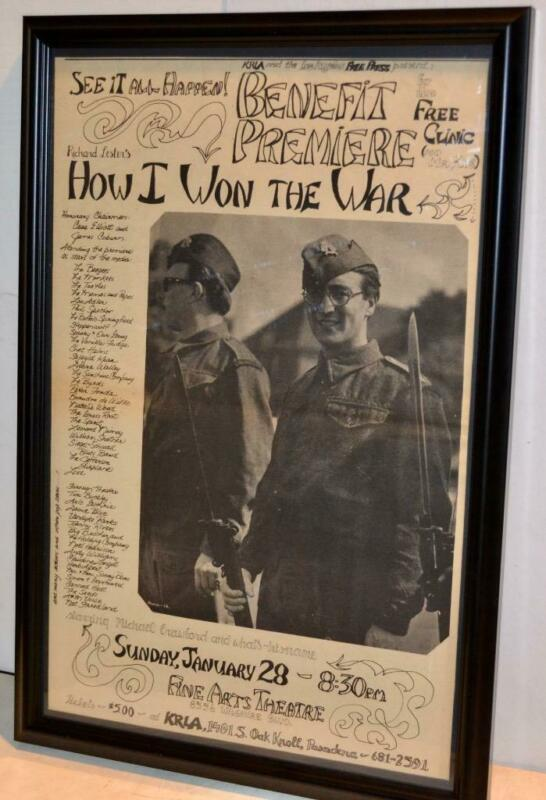 JANIS JOPLIN JEFFERSON AIRPLANE 1968 BEE GEES BENEFIT CONCERT FRAMED POSTER / AD