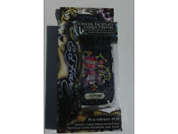 BLACK Love Kills slowly blackberry 8250 curve case screen protector ed hardy Christian Audigier