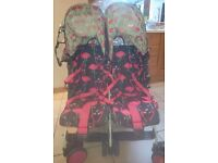 Cosatto Flamingo fling Double buggy- Immaculate Condition