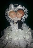 For sale: Precious Moments wedding cake topper $10.00