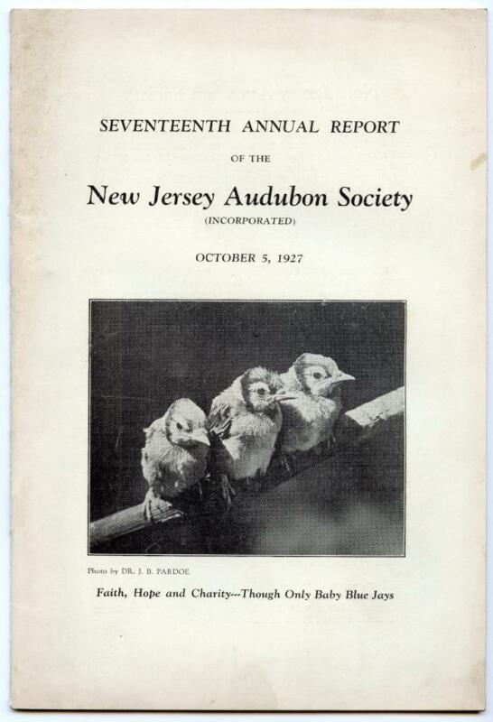 1927 17th Annual Report of the New Jersey Audubon Society Softcover Book Bluejay