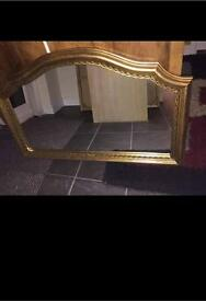 Large gold mirror £30