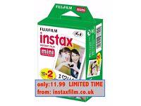 Fuji Instax Mini Film for Fujifilm Mini 8 7s & Mini 90, 50 Cameras.