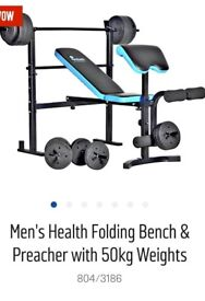Folding weight bench immaculate condition
