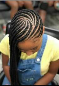 Ghana cornrows, Boxbraids,Twists,Pickndrop braids,Feedin cornrows, Crochetbraids from £45