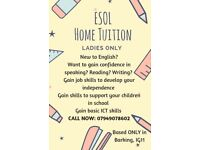 Esol home tuition