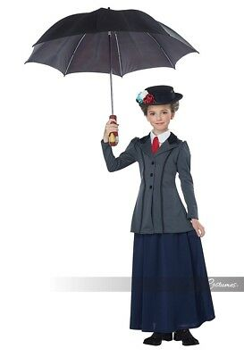 California Costumes English Nanny Mary Poppins Childrens Halloween Costume 00618 (Mary Poppins Kids Costume)