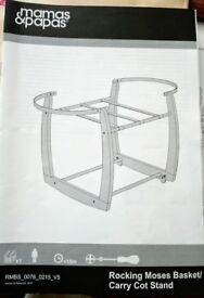 Mamas and Papas Rocking Moses Basket/Carry Cot Stand