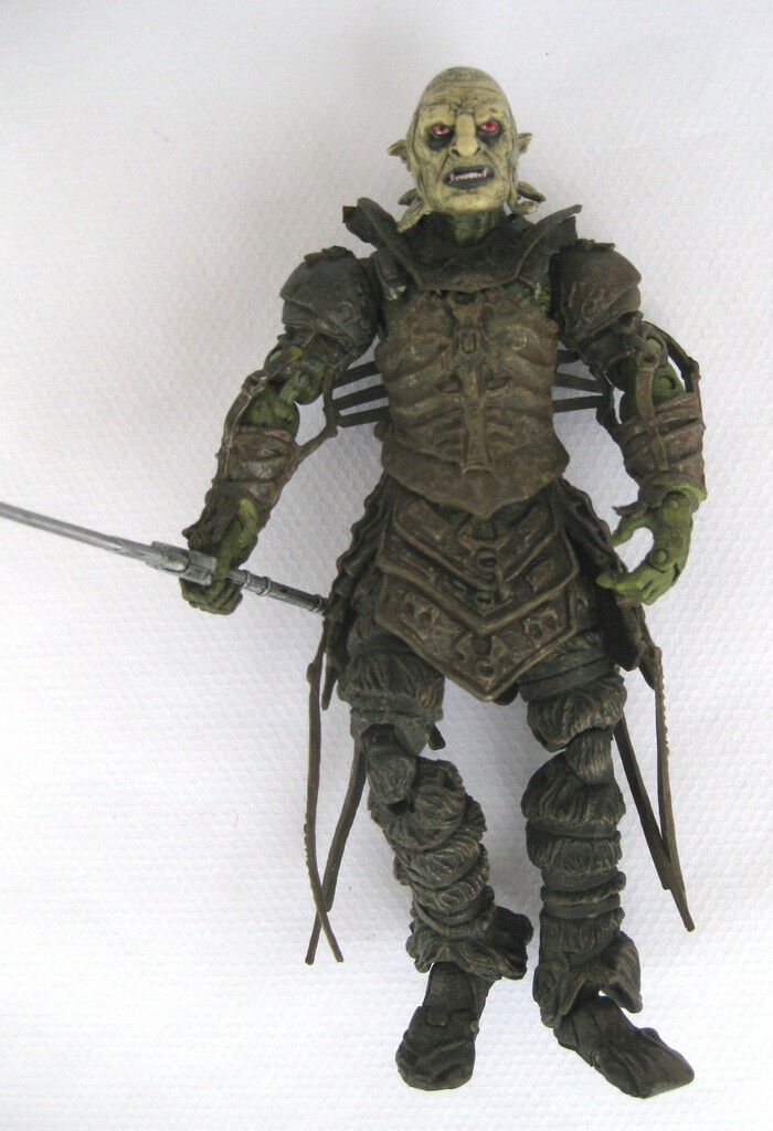 Toybiz Lord Of Rings Orc Warrior Complete Weapons Moving Action Figure Toy LOTR
