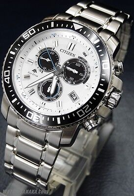 CITIZEN watch PROMASTER Eco-Drive radio clock chronograph PMP56-3053 Men Black Chronograph Clock