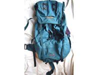 FREE for spares , large KARRIMOR rucksack 75l backpack green