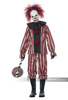 California Costumes Scary Nightmare Clown Horror Adult Halloween Costume - Scary Costumes Clown