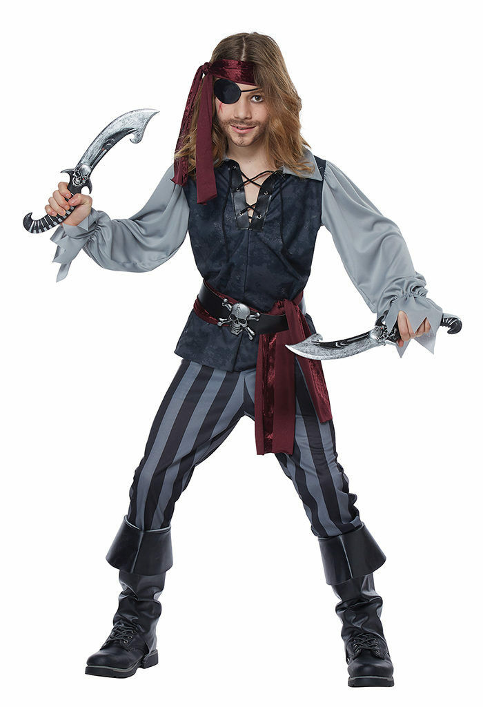 California Costumes Sea Scoundrel Pirate Child Boys Halloween Costume 00634