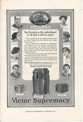 Magazine Ad - 1917 - Victor Talking - Victrola - CARUSO - Camden, NJ (2)