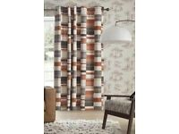 next curtains 168 x 229 brown patterned
