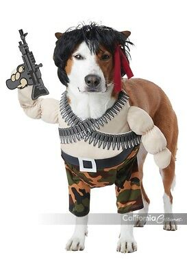 California Costumes Action Hero Rambo Pets Dogs Halloween Costume PET20156 - Action Heroes Halloween Costumes