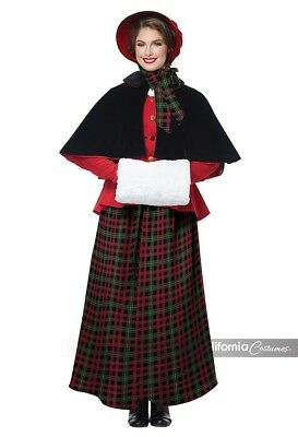 California Costumes Holiday Caroler Adult Womens Christmas Xmas Costume 01515 (Caroler Costumes)