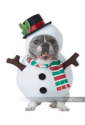 chneemann Haustier Hund Tier Weihnachten Kostüm PET20154 (Hund Schneemann Kostüm)