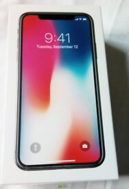 256GB iphone x space grey unlocked boxed brand new