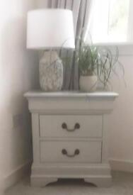 Bedside table hand painted farrow and ball grey