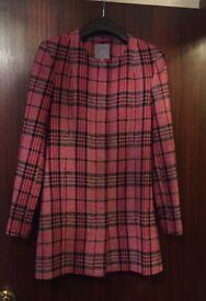 NEXT Ladies Check Winter Coat Size 10
