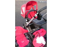 Bugaboo Cameleon 2 in Red with Many Xtras