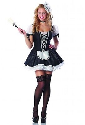 Womens Adult Sexy PLAYBOY Deluxe Ma Cherie French Maid Costume