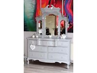 shabby chic mirrored sideboard/lowboy