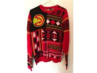 Atlanta Hawks UGLY Christmas jumper size M, used for sale  Sale, Manchester