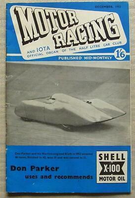 MOTOR RACING & IOTA Journal Car Magazine Dec 1953 Half Litre Club