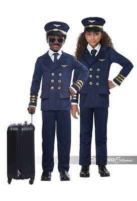 California Kostüme Flugzeug Piloten Kapitän Kinder Halloween Kostüm - Flugzeug Piloten Kostüm Kinder