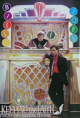 BILLY JOEL 1984 KEEPING THE FAITH PROMO POSTER ORIGINAL