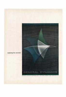 Vintage 1957 Vintage General Dynamics Corp  Exploring Universe Ad Print