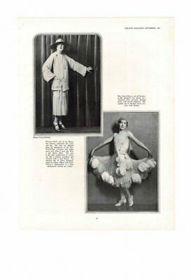 VINTAGE 1926 ROARING TWENTIES FASHION DANCING FROCK ZIEGFELD'S REVIEW AD PRINT