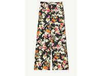 Zara Poplin wide trouser