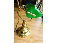 Classic Antique Brass Banker Desk Lamp
