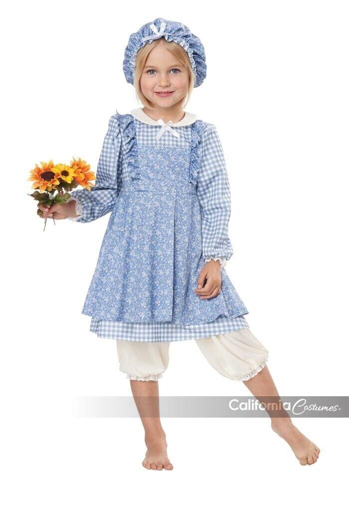 California Costumes Little Prairie Girl Blue Dress Halloween Costume 00188