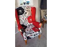 Restored Wingback Armchair