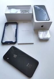 iPhone XR unlocked exallent condition 64gb black