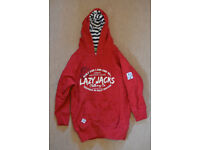 New Red Lazy Jacks Hooded Top