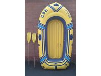 Inflatable dinghy - high quality German boat - with oars