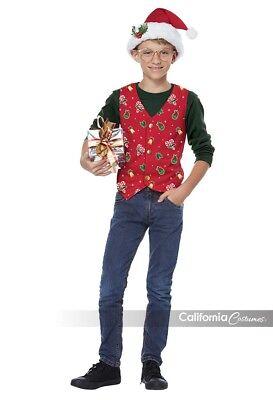California Kostüme Holiday Weste Rot Kinder Jungen Mädchen Weihnachten Kostüm ()