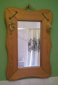 Medium Wooden Rope Mirror