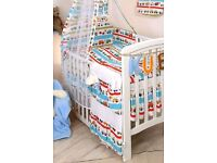 cot bedding and curtains