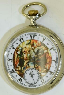 Rare antique Omega pocket watch for Ottoman Market.Fancy dial.