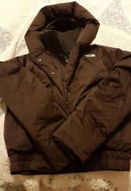 Womens brown The Northface bomber jacket